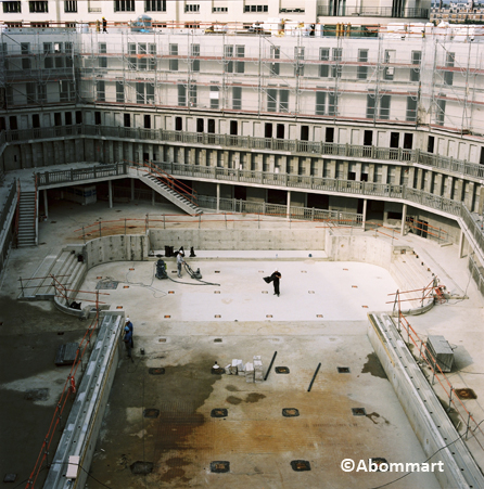 Piscine Molitor, Paris, Chantier, architecture, rénovation,